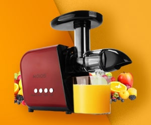 KOIOS Slow Masticating Juicer for Celery Juice