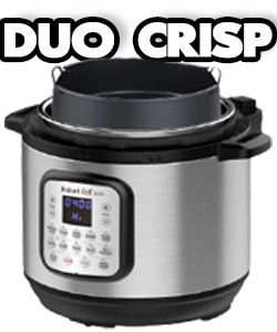 Instant Pot Duo Crisp Electric Pressure Cooker with stainless steel pot